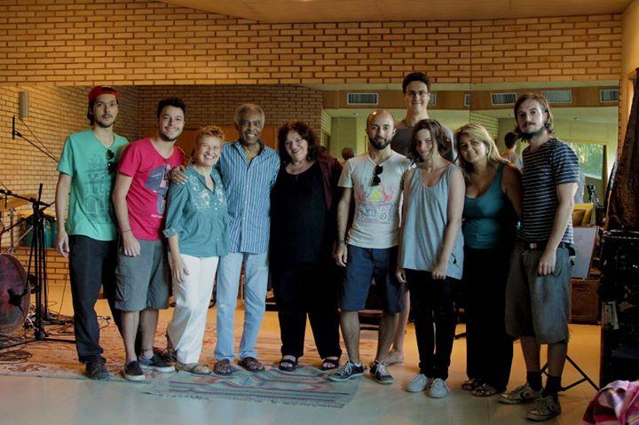 Equipe do filme no dia da gravação com Gilberto Gil