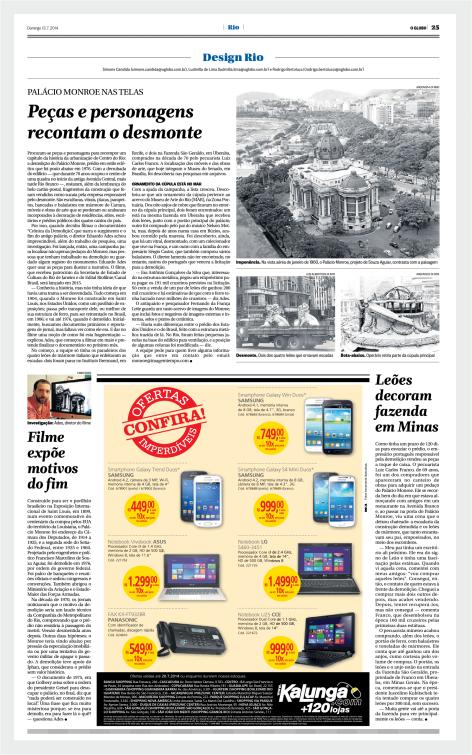 Crônica da demolição - Jornal O Globo